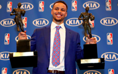 Which season was Steph voted MVP