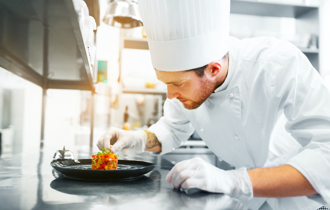 A chef's hat has how many folds in it?