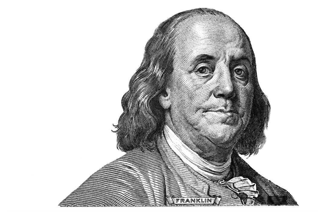 A dozen of what were found in Benjamin Franklin's basement?