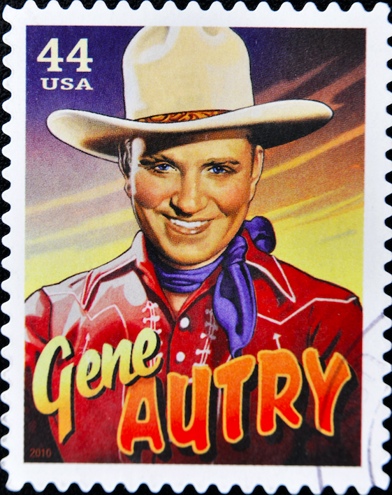 Gene Autry is the only person to be awarded what star category on the Hollywood Walk of Fame?