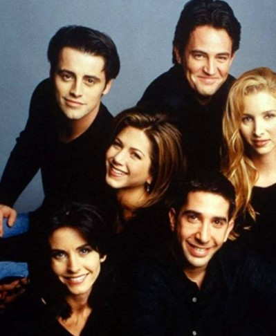 In which 90s does Friends premiere on NBC?