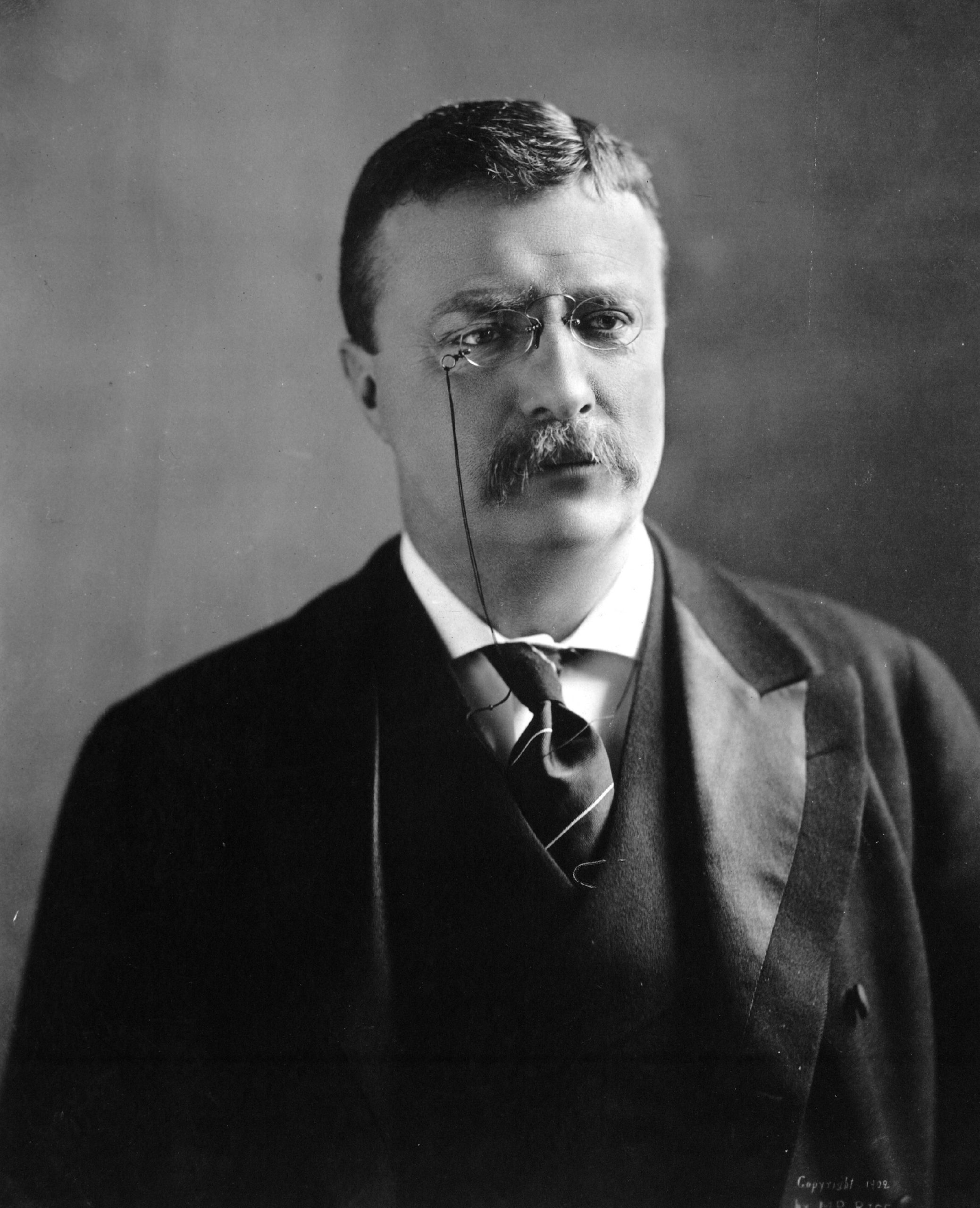 """He remains the youngest person to become President of the United States.  He was a leader of the progressive movement, and he championed his """"Square Deal"""" domestic policies, promising the average citizen fairness, breaking of trusts, regulation of railroads, and pure food and drugs.  He served as the 26th president of the United States from 1901 to 1909."""