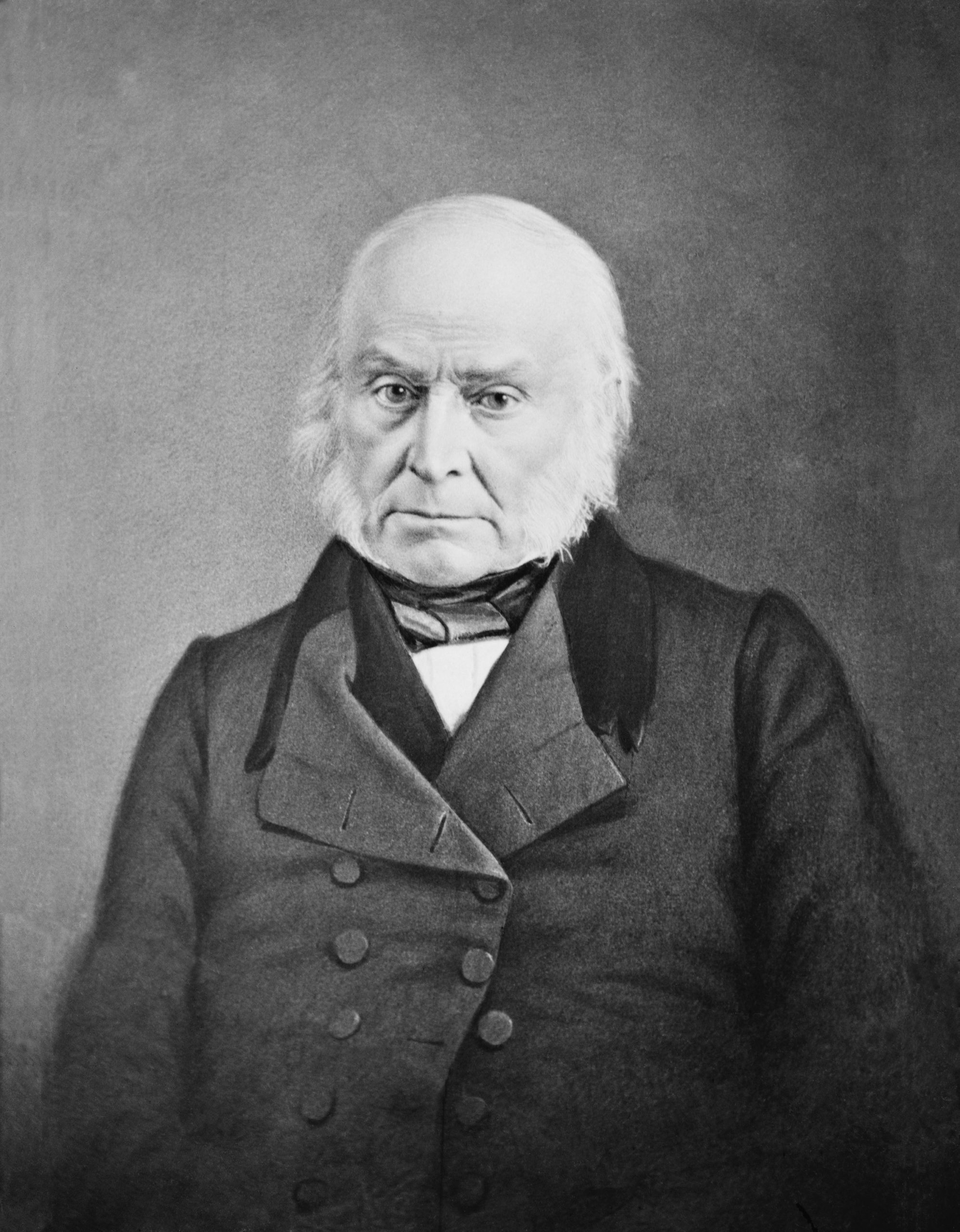 He fought against the expansion of slavery in his presidential years 1825 to 1829.  He was also the son of a former president.