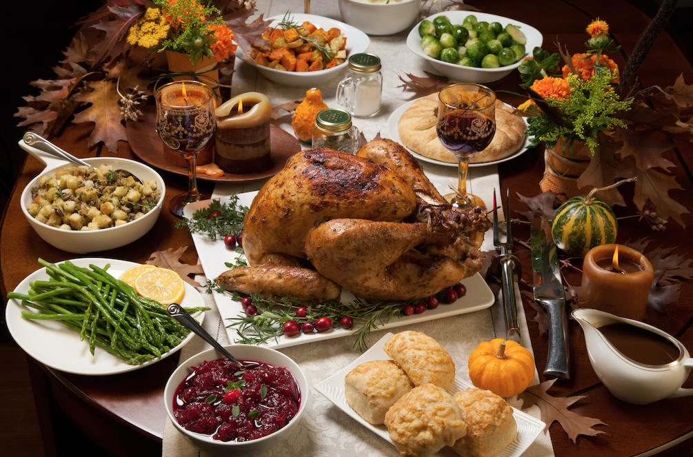 Which of these foods is not thought to have been part of the first Thanksgiving?