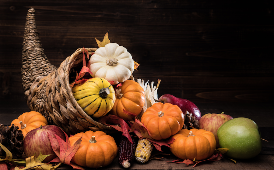 What culture produced the idea of the cornucopia, the horn of plenty?