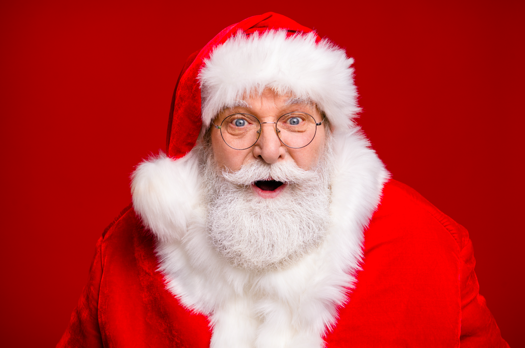 What was the first company that used Santa Claus in advertising?