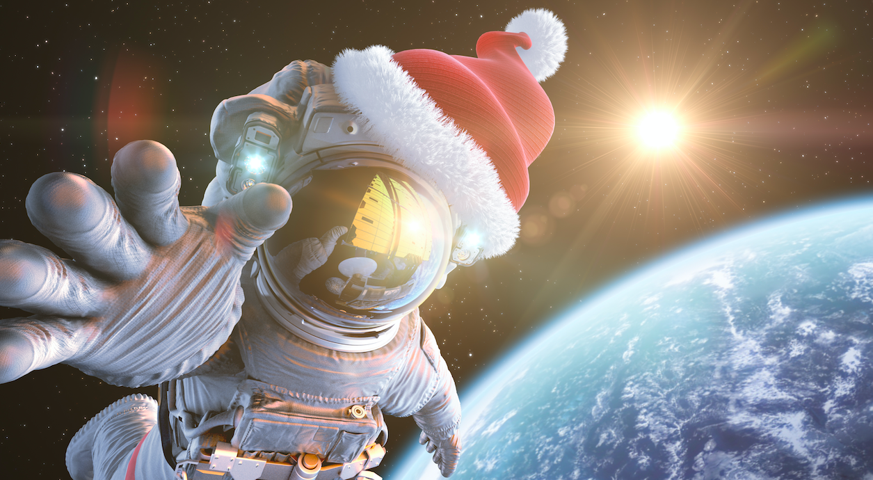 What Christmas carol became the first song ever broadcast from space in 1965?