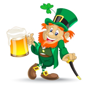 Why are leprechauns associated with St. Patrick's Day?
