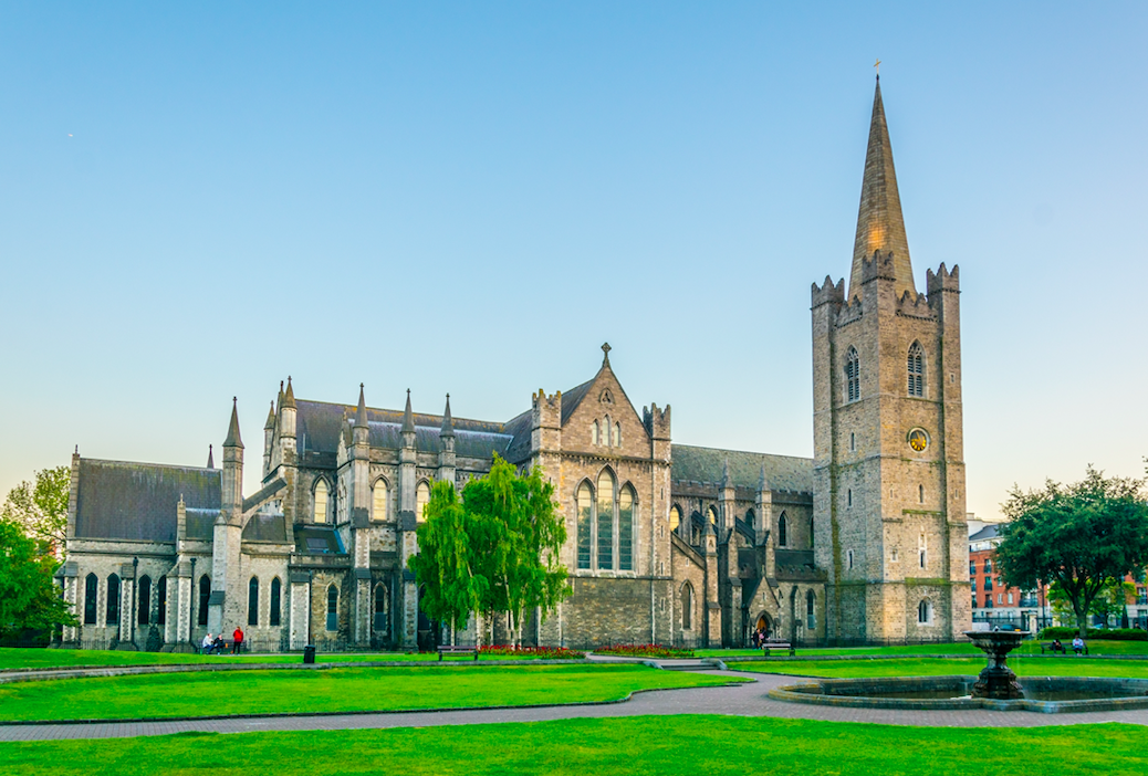About how many churches and cathedrals are named after St. Patrick in Ireland?