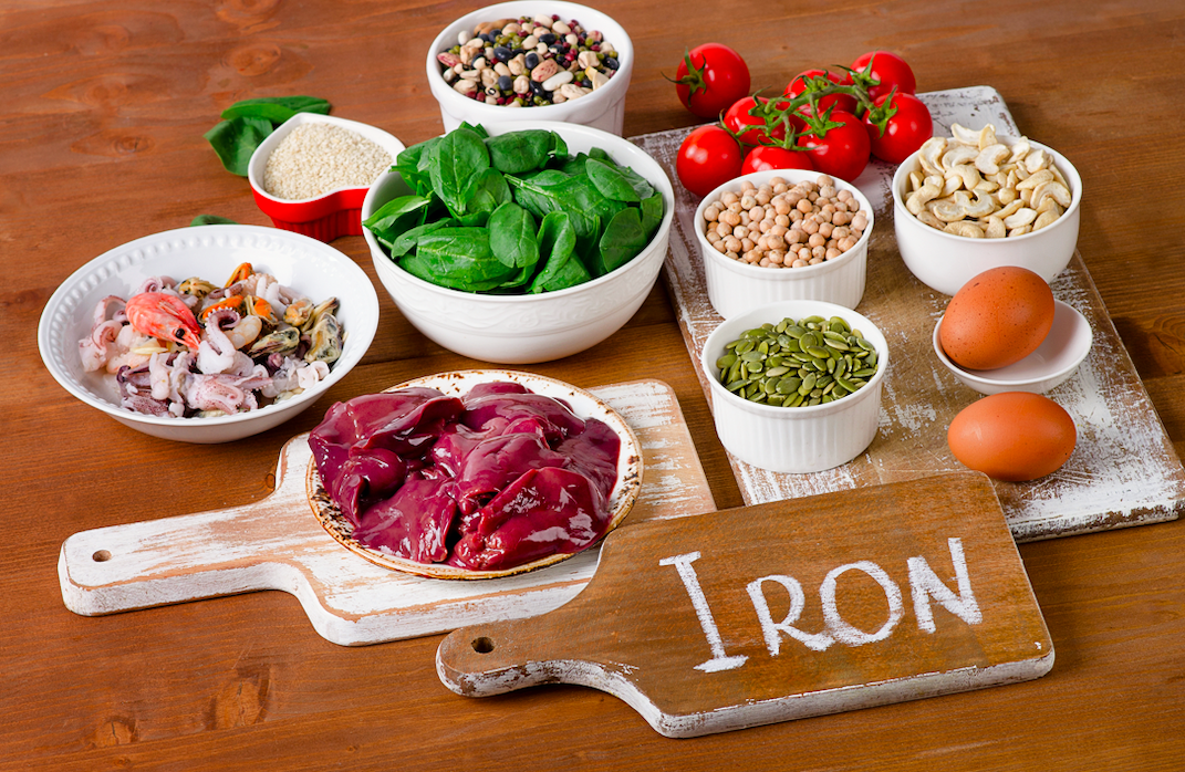Which of these foods is the best source of iron?