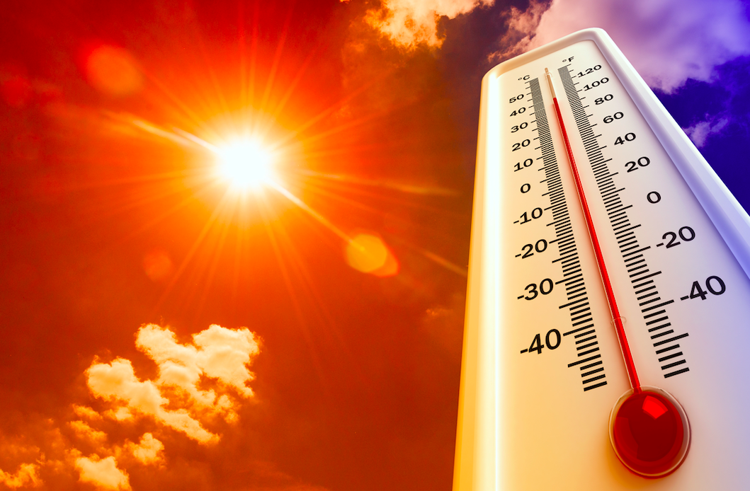 In the Northern Hemisphere, what was the hottest temperature in summer recorded?
