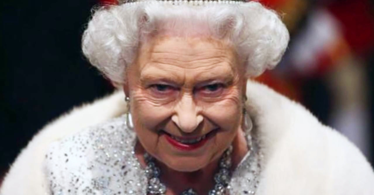 2. When the Queen finishes eating at a family dinner, what happens next?